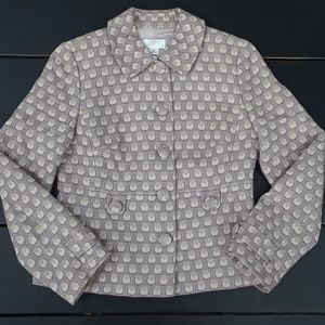 Loft petites EUC peacock knit/tweed blazer sz 4P